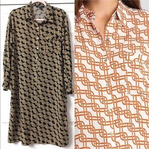 forever 21 Chain Print Tunic Shirt Dress Size L